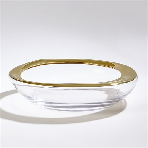Organic Formed Bowl-Gold Rim