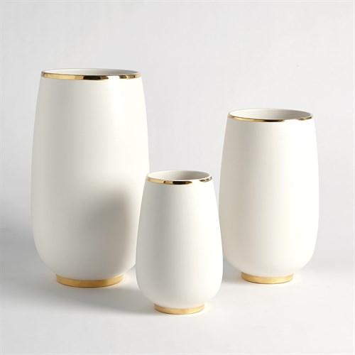Gold Rim Bulb Vase