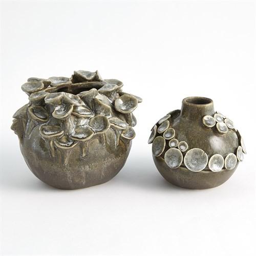 Flat Sea Coral Vase-Reactive Sage