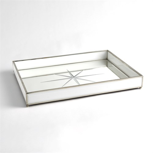 Compass Rose Tray-Nickel