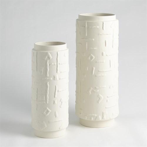 Sankuru Vases-Rustic White