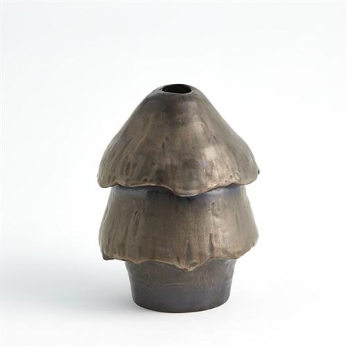 Primitive Mushroom Vase-Bronze