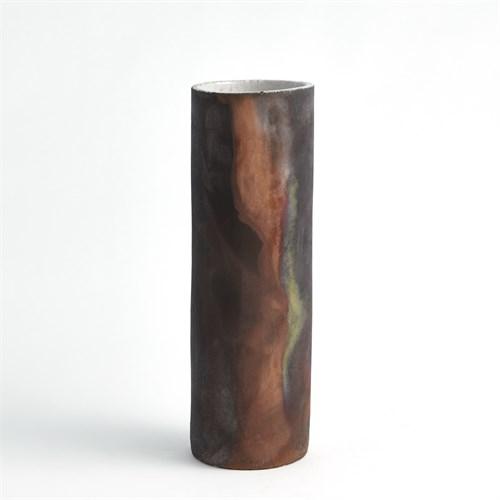 Rust Cylinder Raku Vases