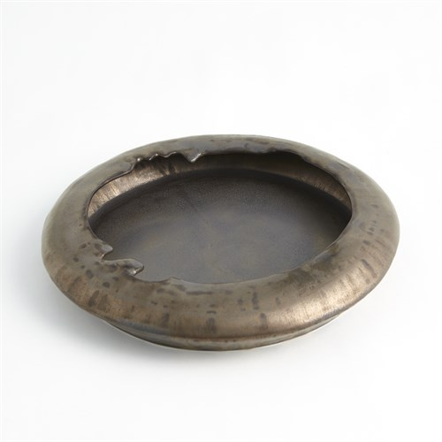 Primitive Low Bowl-Bronze
