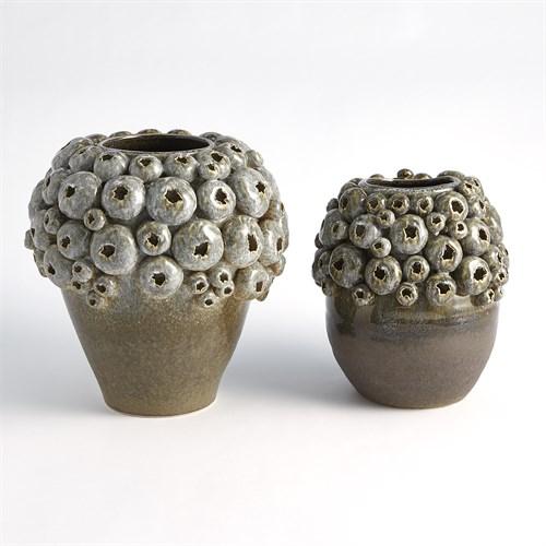 Round Sea Coral Vase-Reactive Sage