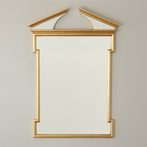 Broken Pediment Mirror-Gold Leaf
