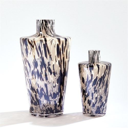 Confetti Shoulder Vase-Black/Beige