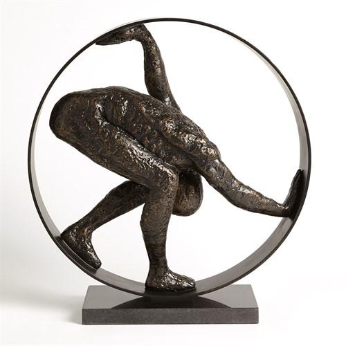 Man in Circle Sculpture-Bronze
