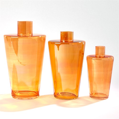 Shoulder Vase-Luster Orange