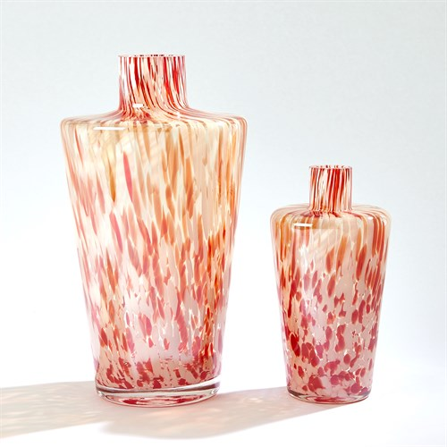 Confetti Shoulder Vase-Red/Beige
