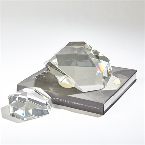 Crystal Paper Weight-Clear