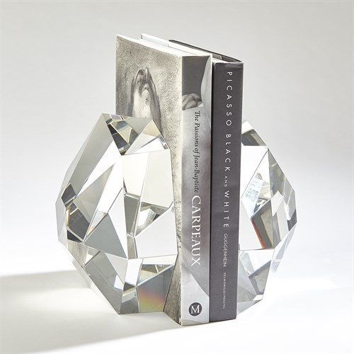 S/2 Crystal Bookends-Clear