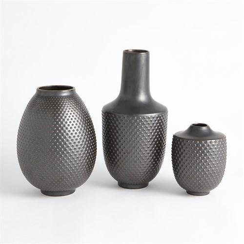 Dots Vase-Gunmetal