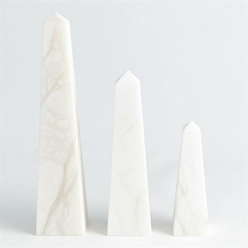 Alabaster Obelisk-White
