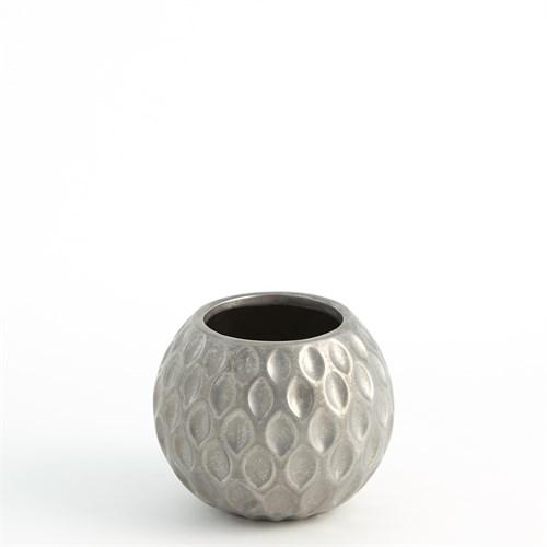 Dimple Pot-Silver