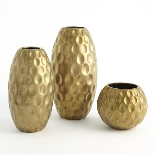 Dimple Vase-Gold