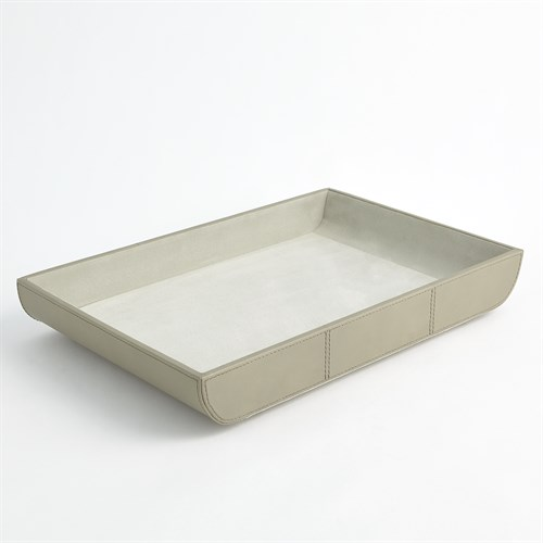 Curved Corner Tray-Light Grey