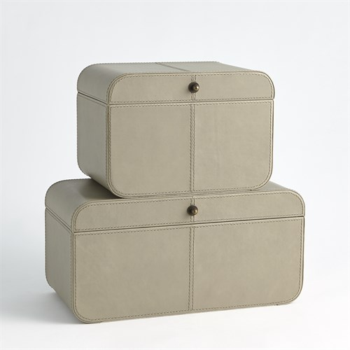 Curved Corner Box-Light Grey