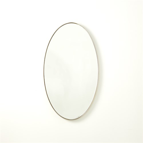 Elongated Oval Mirror-Nickel-Sm