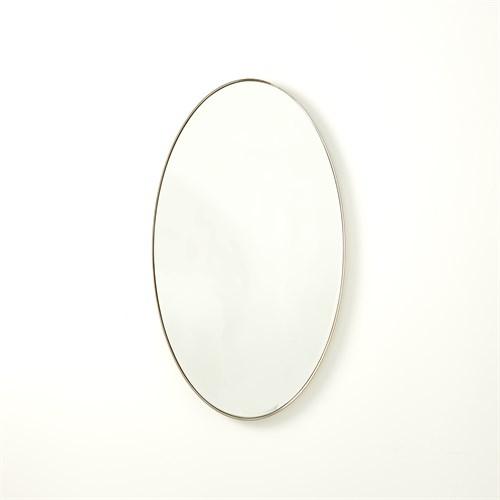 Elongated Oval Mirror-Nickel-Sm