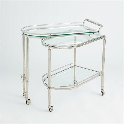Gallery Folding Bar-Shiny Nickel