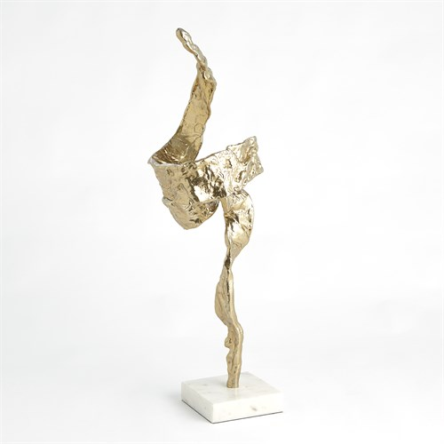 Twist Sculpture-Brass