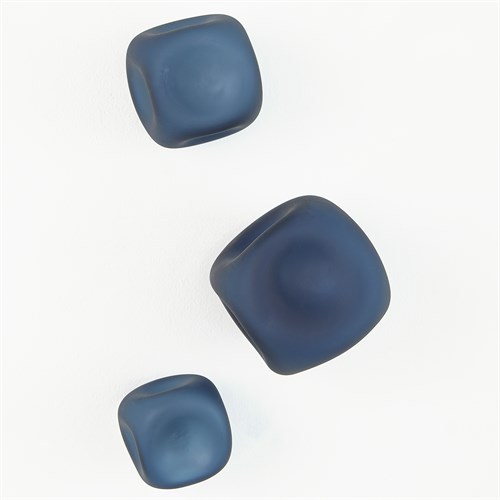 S/3 Wall Rocks-Frosted Blue