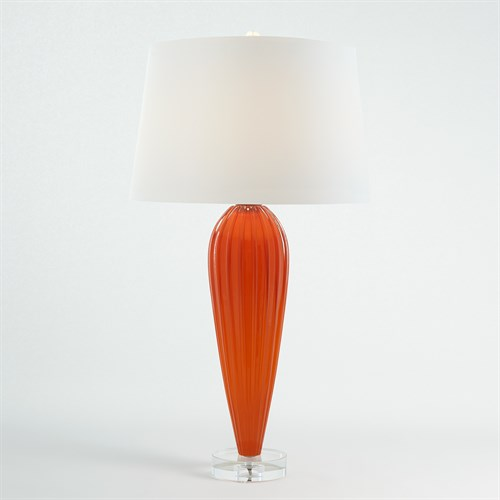 Teardrop Glass Lamp-Orange