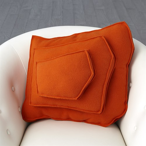 Rock Pillow-Orange-Trapezoid Shape