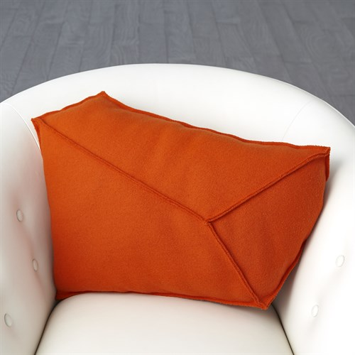 Rock Pillow-Orange-Left
