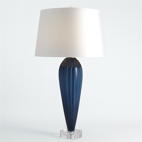 Teardrop Glass Lamp-Blue