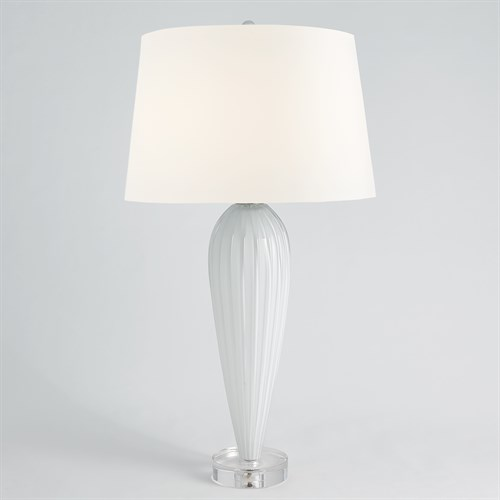 Teardrop Glass Lamp-White