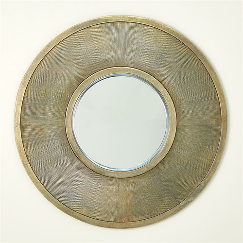 Sunray Mirror-Antique Brass