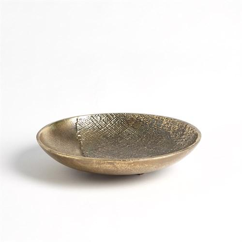 Linen Round Tray-Brass