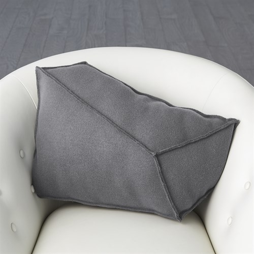 Rock Pillow-Grey-Left