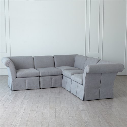 Slipper Sectional-Heather Grey