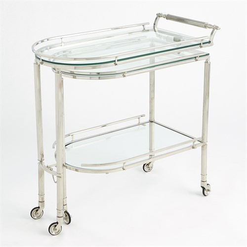 Gallery Folding Bar-Shiny Nickel