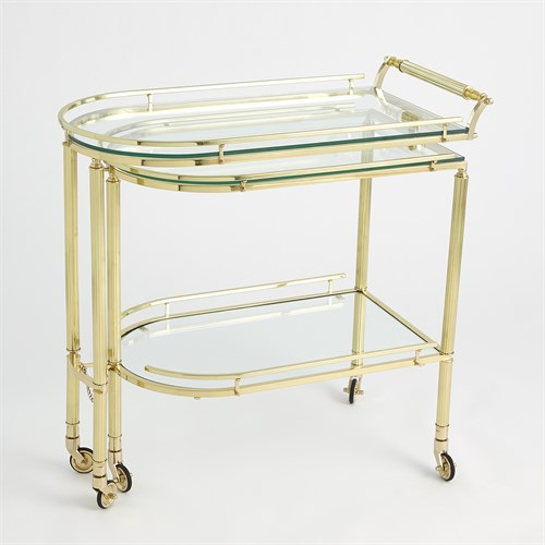 Gallery Folding Bar-Shiny Brass