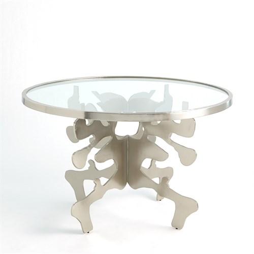 Ink Blot Dining Table-Nickel-48