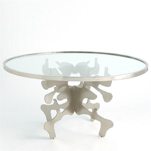 Ink Blot Dining Table-Nickel-60