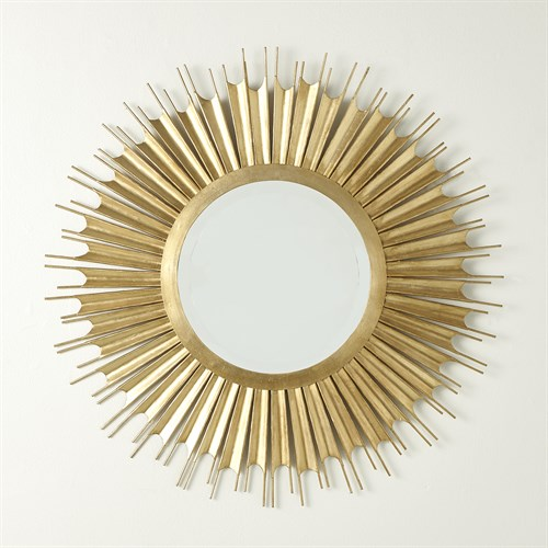Necklace Mirror-Gold Leaf