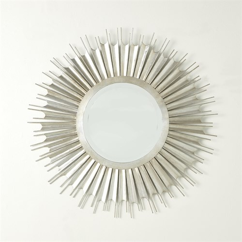 Necklace Mirror-Silver Leaf
