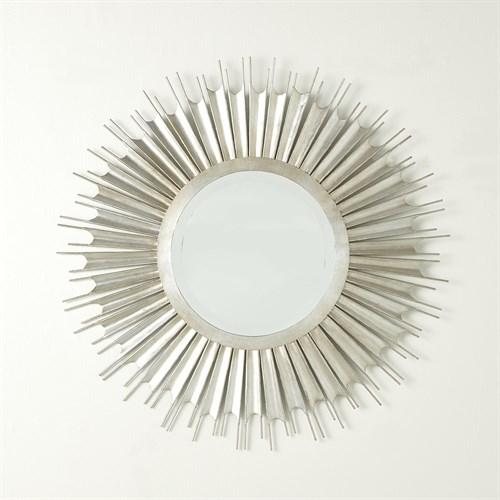 Necklace Mirror-Silver Leaf