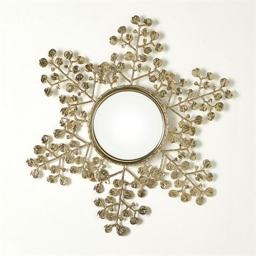 Leafy Mirror-Brass