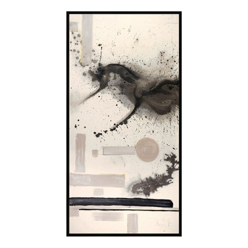 "Framed Printed Canvas-Modernist-Smoked- 48""x96"""
