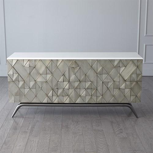 Triangle Cabinet-Silver