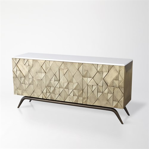Triangle Cabinet-Brass