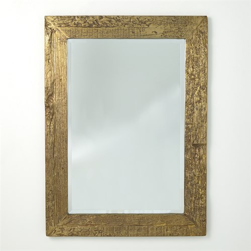 Timber Mirror-Brass