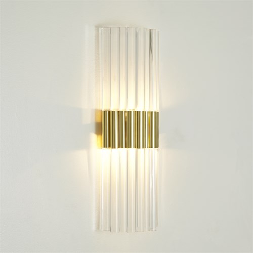 Acrylic Sconce-Brass-HW