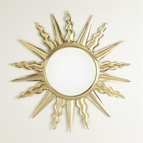 Soleil Mirror-Brass